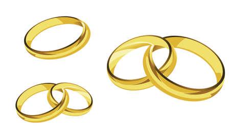 gold ring: rings gold ring illustration Illustration