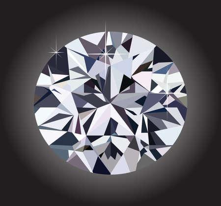 diamond and black background Stock Vector - 25403625