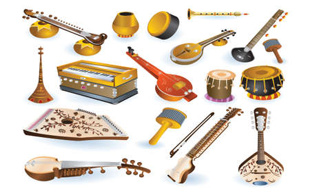 musical and percussion instruments Vector