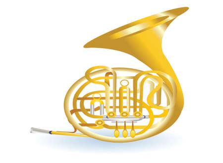 fagot: złote tuba Ilustracja