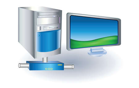 lcd: computer with lcd monitor