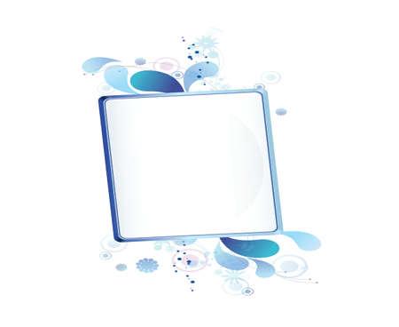 blue bulletin board Vector