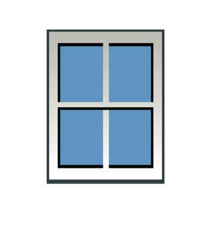 blue window Vector