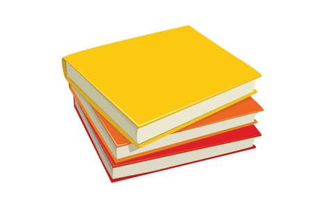 stack of books: stack books illustration  Illustration
