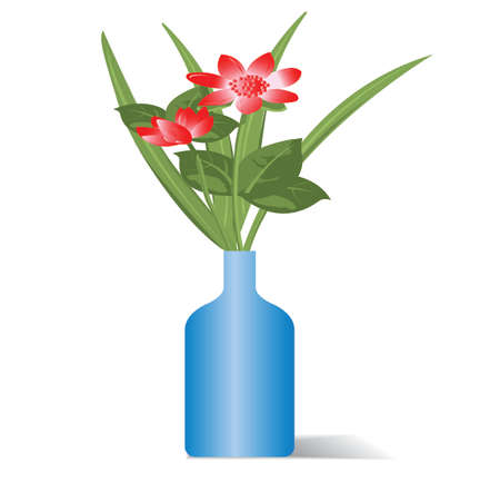 flowers in bottle  Vector