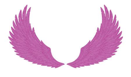 purple wings Vector