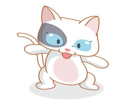 mamma: cartoon funny cat posing Illustration