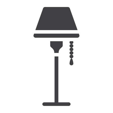 solid: Floor lamp solid icon, Furniture and interior Illustration