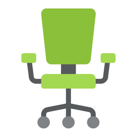 Office Chair flat icon, Furniture and interior Illustration