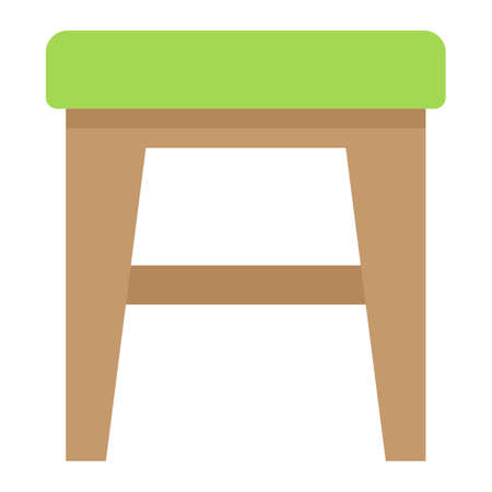 stool: Stool flat icon, Furniture and interior