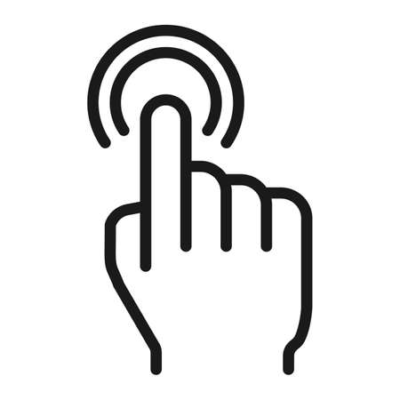 double tap: Double tap line icon, touch and hand gestures