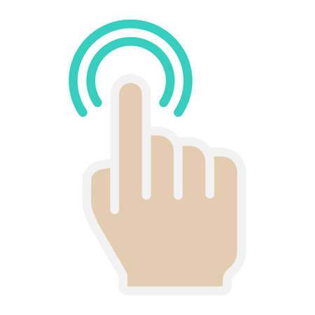double tap: Double tap flat icon, touch and hand gestures Illustration