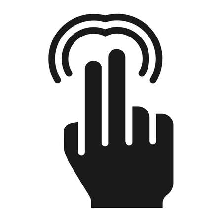 solid: 2 finger Double tap solid icon, touch and gestures