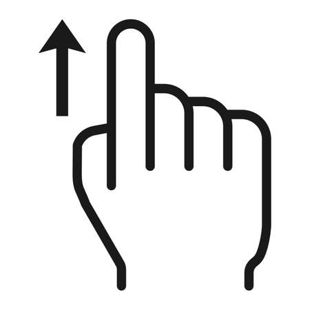Swipe up line icon, touch and hand gestures Illustration
