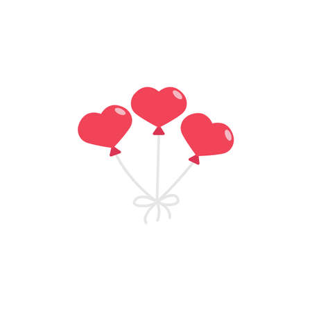 red hearth shaped balloons icon