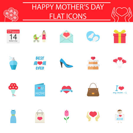 mother and baby: Set of mothers day icons