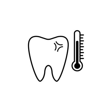 sensitive: Sensitive tooth line icon Illustration