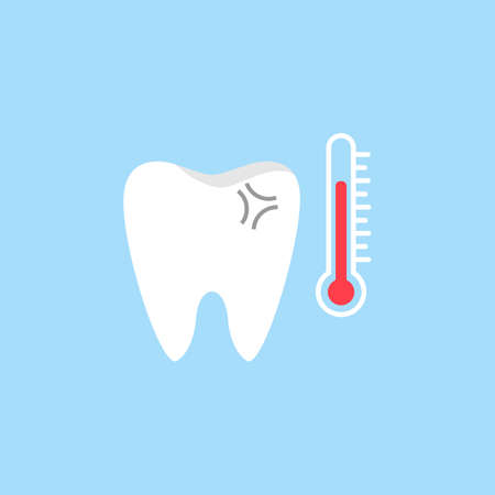 Sensitive tooth flat icon