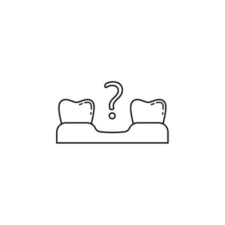 Missing tooth line icon Illustration