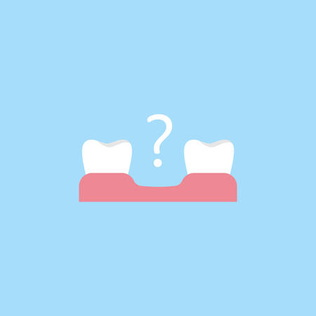 Missing tooth flat icon