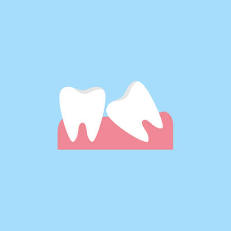 Wisdom teeth flat icon Иллюстрация