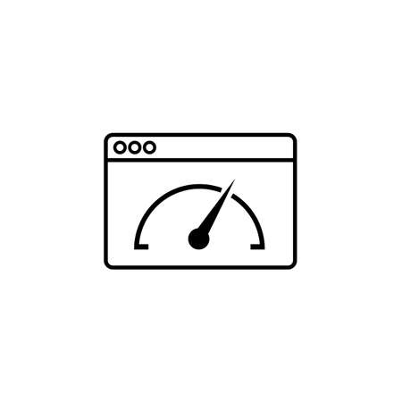 icons site search: Page speed line icon,
