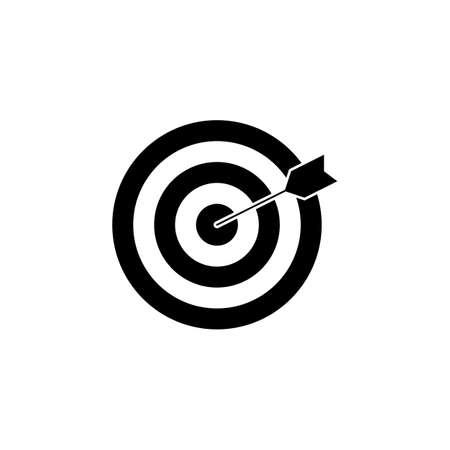 keyword: Target keyword solid icon Illustration