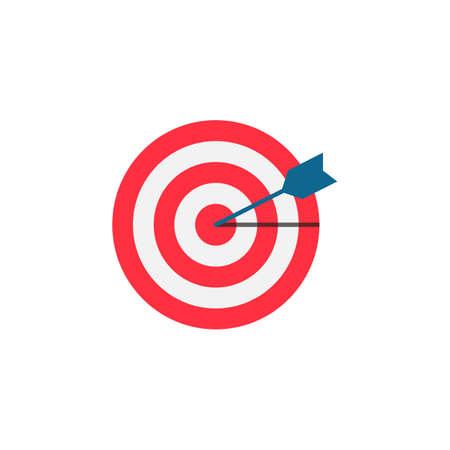 keyword: Target keyword flat icon Illustration