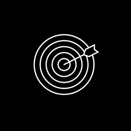 keyword: Target keyword line icon