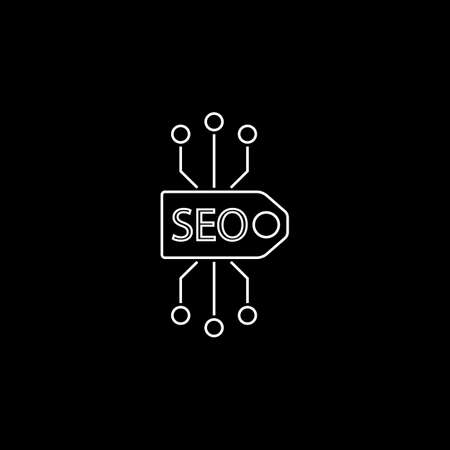 icons site search: Seo tag line icon