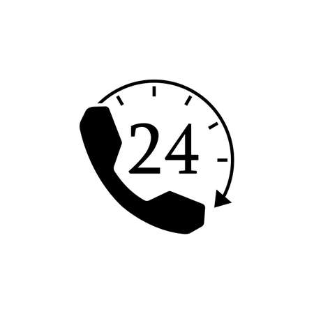 solid: Full time call services solid icon