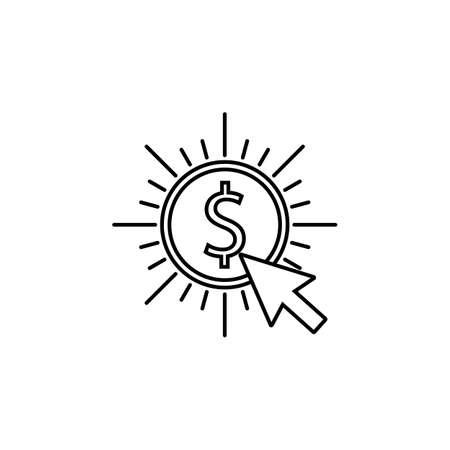 Pay per click line icon