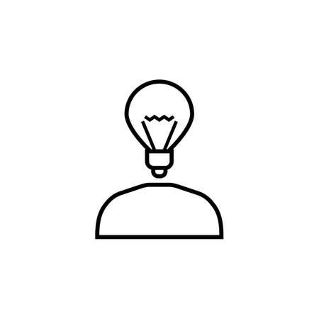 brain illustration: Creative thinking line icon