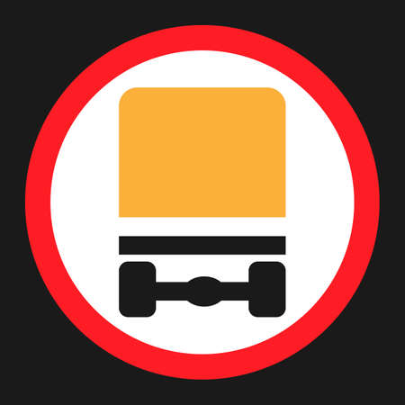 Dangerous Goods Transport prohibition sign flat icon, Traffic and road sign, vector graphics, a solid pattern