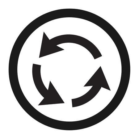 Icône de ligne de signe de circulation rond-point circulation, signe de trafic et de la route, des graphiques vectoriels, un motif solide sur un fond blanc, eps 10 Banque d'images - 76972709
