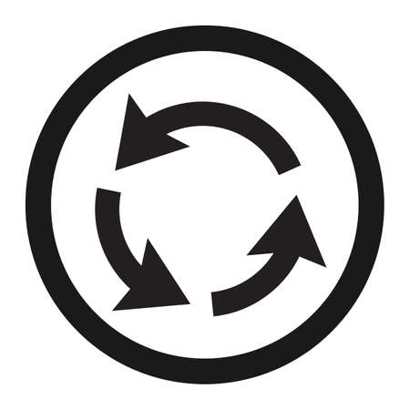 Icône de ligne de signe de circulation rond-point circulation, signe de trafic et de la route, des graphiques vectoriels, un motif solide sur un fond blanc, eps 10