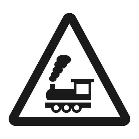 踏切バリア ライン記号なし交通と道路交通標識、ベクトル グラフィックス、白地、eps 10 固体パターン  イラスト・ベクター素材