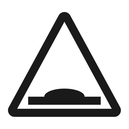 danger ahead: Hump Sign line icon, Traffic and road sign, vector graphics, a solid pattern on a white background, eps 10