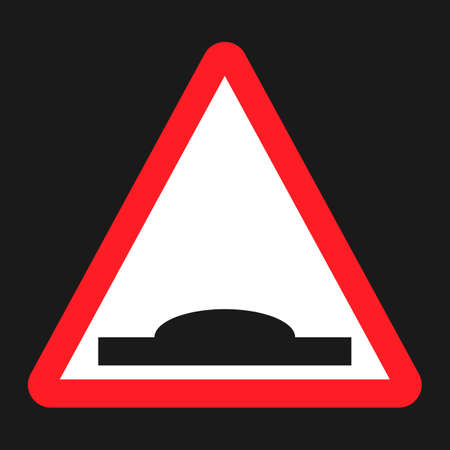 Hump Sign flat icon, Traffic and road sign, vector graphics, a solid pattern on a black background, eps 10