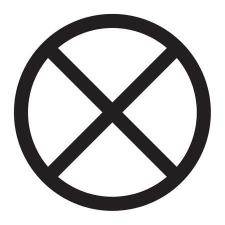 Clearway、駐車場サイン線アイコン、交通と道路に署名、ベクトル グラフィックス、白地、eps 10 固体パターン  イラスト・ベクター素材
