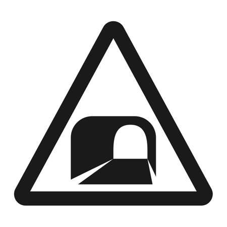 danger ahead: Tunnel ahead sign line icon, Traffic and road sign, vector graphics, a solid pattern on a white background, eps 10