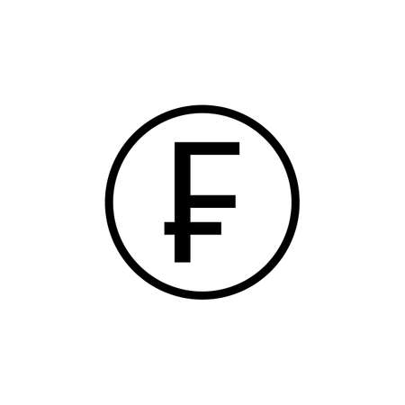 frank: Swiss franc coin solid icon, finance and business, franc sign vector graphics, a fiilled pattern on a white background, eps 10.