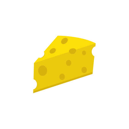 Cheese flat icon, food drink elements, Dairy sign, a colorful solid pattern on a white background, eps 10.