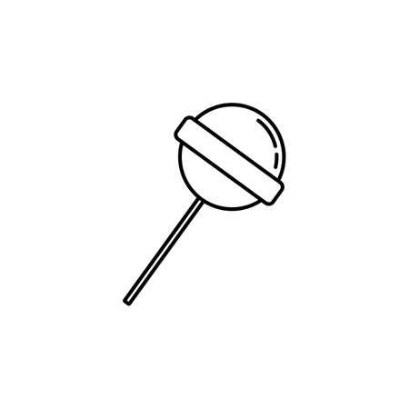 Lollilop line icon, food drink elements, sweet candy sign, a linear pattern on a white background, eps 10.