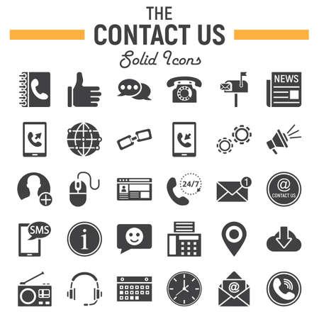 Treten Sie mit uns fester Ikonensatz, Netzknopf-Symbolsammlung, Mobile und Stützvektorskizzen, Logoillustrationen, gefülltes Piktogrammpaket in Verbindung, das auf weißem Hintergrund, ENV 10 lokalisiert wird. Standard-Bild - 77297701