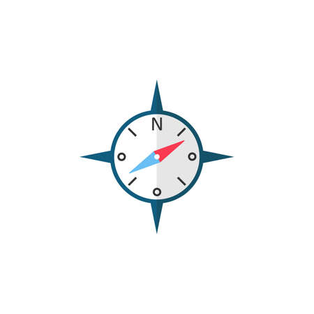 latitude: Compass flat icon, travel tourism Illustration