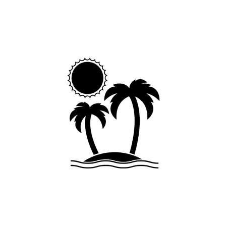 icon: Island solid icon, travel tourism Illustration