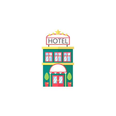 apartment bell: Hotel flat icon, travel tourism