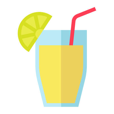 Cocktail flat icon, food and drink vector graphics, a colorful solid pattern on a white background