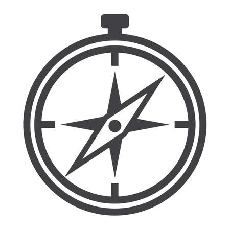 Compass line icon, navigation and travel, vector graphics, a linear pattern on a white background,